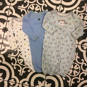 Pajamas - Set of 3 Newborn Nightgowns